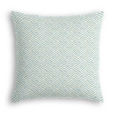 "Geometric Maze Custom Throw Pillow - 20""Sq - Domino"