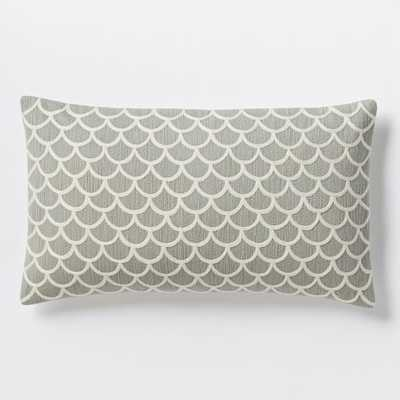 Scalloped Crewel Pillow Cover - West Elm