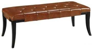 HAMMOND LEATHER BENCH - BROWN - Home Decorators