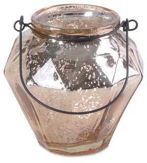 Mottled Glass Votive Holder - One Kings Lane