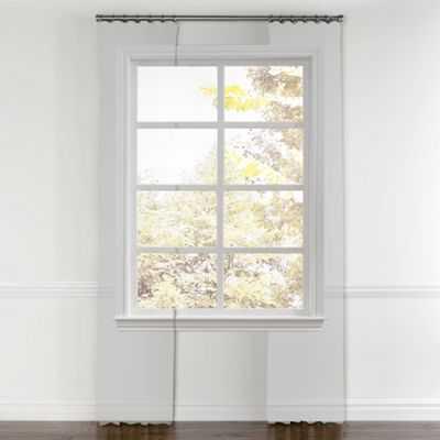 "Sea green quatrefoil curtain, ring top-96"" - Loom Decor"