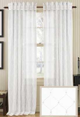 "STARRED SHEER CURTAIN PANEL - Beige - 108""L x 54""W - Home Decorators"
