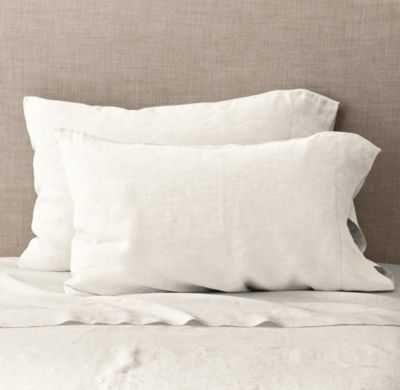 VINTAGE-WASHED BELGIAN LINEN PILLOWCASES (SET OF 2) - RH