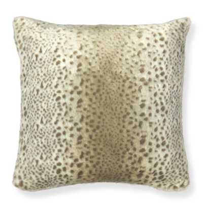 "Williams-Sonoma Faux Fur Pillow Cover, Snow Leopard - 22"" sq. - Insert sold separately - Williams Sonoma"