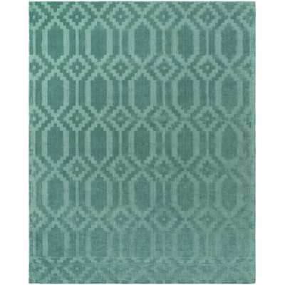 Metro Scout Hand-Loomed Teal Area Rug - 8' x 10' - AllModern