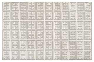 Selous Dhurrie, Gray/Ivory - 6' x 9' - One Kings Lane