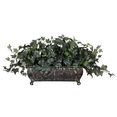 Artificial English Ivy Ledge Desk Top Plant in Planter - Wayfair