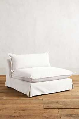 Basketweave Linen Tassa Chair - Snow - Anthropologie