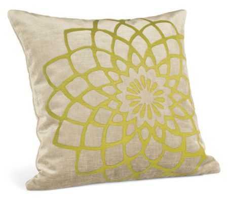 Galbraith & Paul Mum Pillows- Citron- 18x18- Feather/ Down fill insert - Room & Board