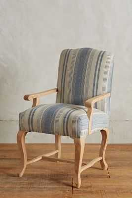 Granary Stripe Dining Armchair - Blue Motif - Anthropologie