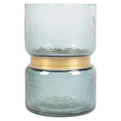 """Vase (8"""") Blue/Gold - Thresholdâ""""¢ - Target"""