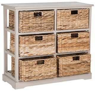 Willow 6-Basket Storage Chest, Gray - One Kings Lane