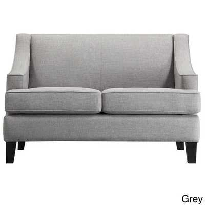 INSPIRE Q Winslow Concave Arm Modern Loveseat - Grey - Overstock