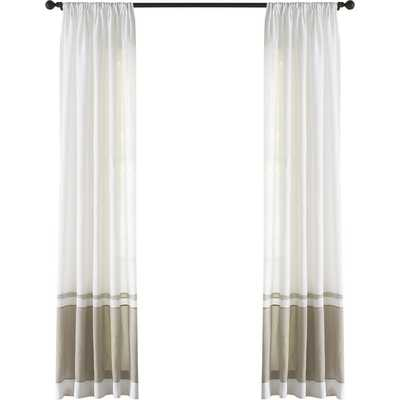 Wren Linen Single Curtain Panel - Birch Lane