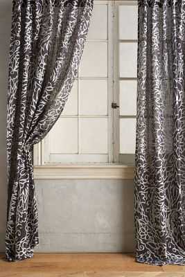 "Petalwood Curtain- 96""x 50"" - Anthropologie"