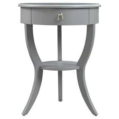 Edna 1-Drawer Accent Table - Fog - Target
