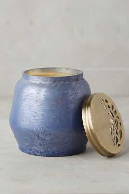 Capri Blue Frosted Foliage Candle - Volcano - Anthropologie