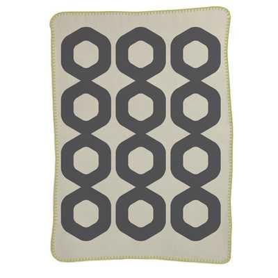 Mod Ring Brushed Cotton Crib Blanket - AllModern