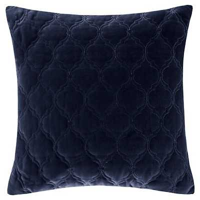 Cotton Velvet Quilted Pillow - Feather down insert - Target
