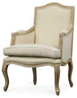 Annabelle Accent Chair, Beige Linen - One Kings Lane