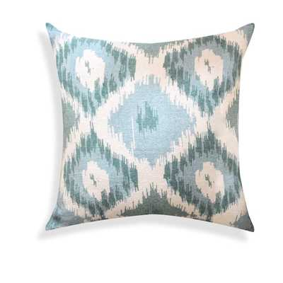 Shaded Ikat Designer Blue 18-inch Throw Pillow - Polyester fill - Overstock