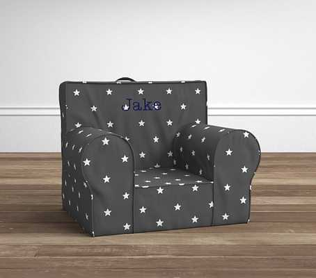 Gray Star Glow In The Dark Anywhere Chair - Pottery Barn Kids