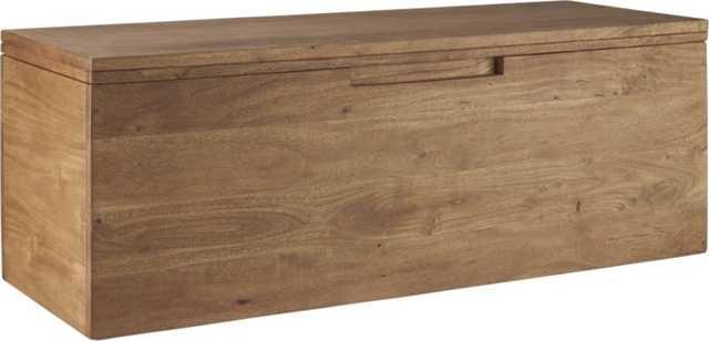 Acacia storage bench - CB2