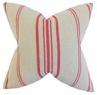 Fran 18x18 Pillow, Red - One Kings Lane