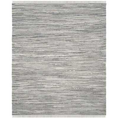Rag Striped Contemporary Area Rug - 8x10 - Wayfair