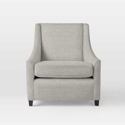 Sweep Armchair - Shadow Weave, Platinum - West Elm