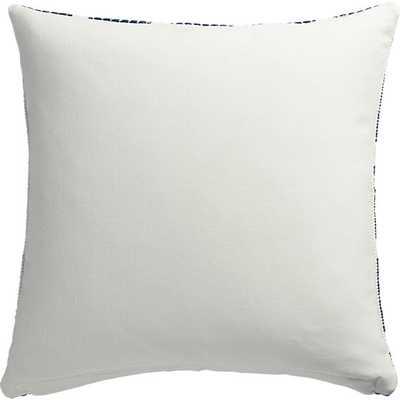 "Quad 20"" x 20"" pillow with down-alternative insert-Blue/White - CB2"