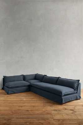 Basketweave Linen Tassa Sectional - Anthropologie