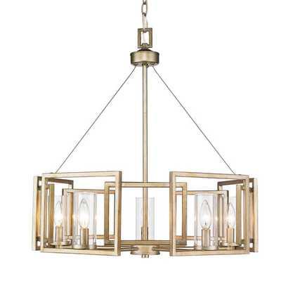 Macro 5 Light Chandelier - White Gold - AllModern