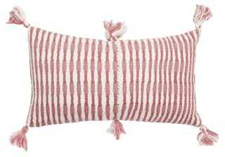 Antigua 12x20 Pillow, Rose-/feather insert - One Kings Lane