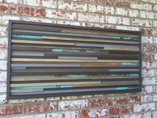 Modern Wood Sculpture Wall Art - Etsy