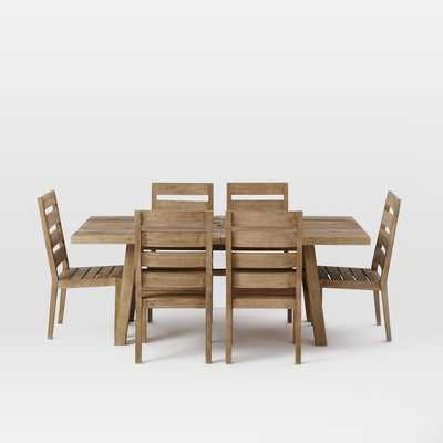 Jardine Dining Set – Driftwood (Table + 6 Chairs) - West Elm