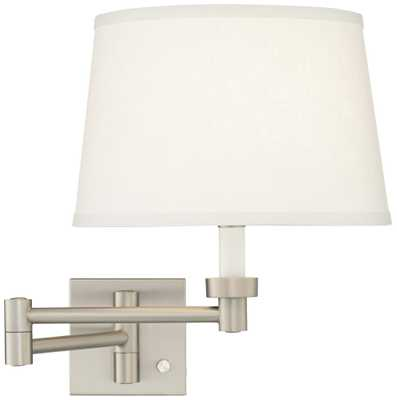 Brushed Steel Swing Arm Wall Lamp - Lamps Plus