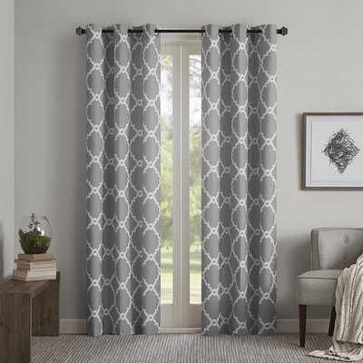 Madison Park Essentials Almaden Printed Fret Grommet Top Curtain Panel Pair - Overstock