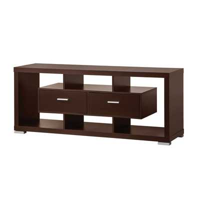 TV Stand in Cappuccino - Wayfair