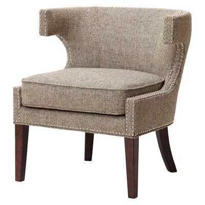 Stella Contemporary Cutout Arm Chair - Grey - Target