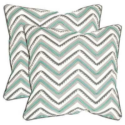 "Safavieh 2 Pack Elli Pillow - 18"" x 18"" - Target"