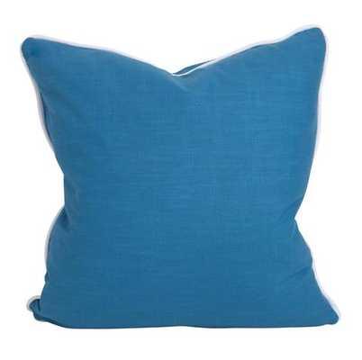 Porcelain Blue Pillow - Down insert - Society Social