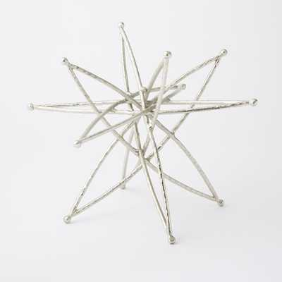 Star Sculpture - Large - Silver - West Elm