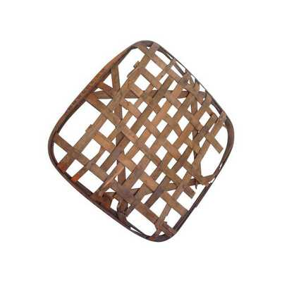 Antique Primitive Tobacco Basket - Chairish