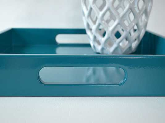 Teal 14 x 18 Lacquered Serving Tray - Etsy