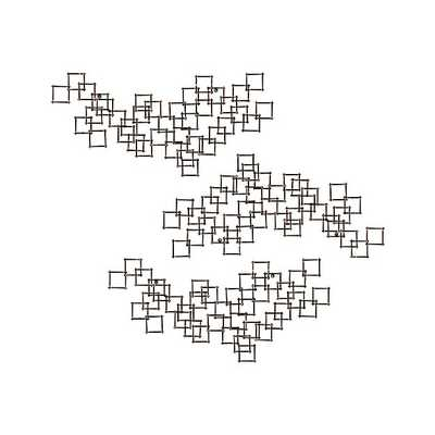 Set of 3 Squares Nail Wall Art - Crate and Barrel