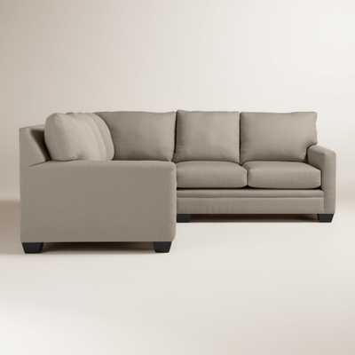 Textured Woven Holman Upholstered Right-Facing Sectional - World Market/Cost Plus