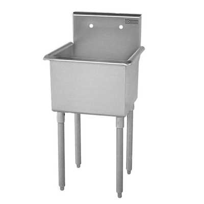 T-Series 27 in. x 27-1/2 in. x 42 in. Stainless Steel Scullery Sink - Home Depot