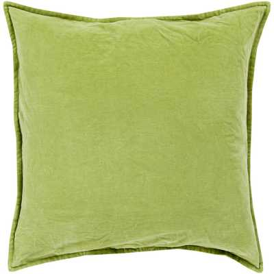 Smooth Velvet Cotton Throw Pillow 20''Sq. insert included - AllModern