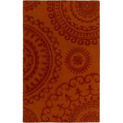 """Pollack Sloane Handmade Orange Area Rug -8""""x10"""" - Wayfair"""
